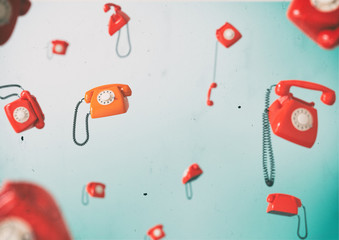 Vintage telephones.