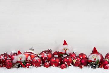Holz Hintergrund Weihnachten in Rot und Weiß