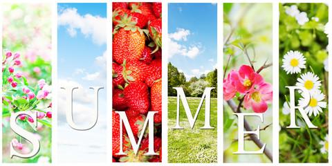 bright summer collage