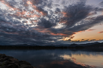 Sunset, lake of Varese