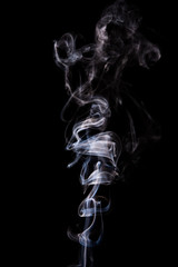 Abstract incense smoke isolated