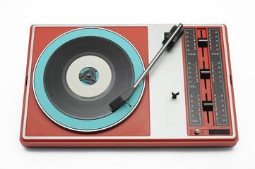 Plattenspieler (vintage/bunt)