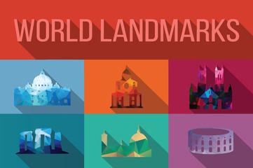 World landmarks, famous buildings, Europe, America, Asia