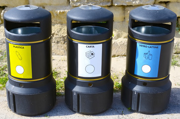 Recycle Bin containers to waste separate materials