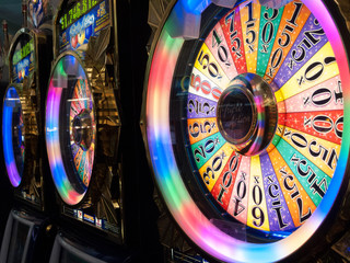 Wheel of fortune at a casino, Las Vegas, Nevada, USA