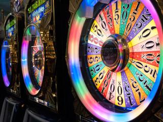 Wheel of fortune at a casino, Las Vegas, Nevada, USA