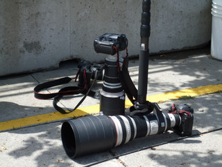 Close-up of camera with lens