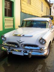 Fotorolgordijn Cubaanse oldtimers Cuba car