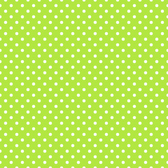 Seamless green polka dot background