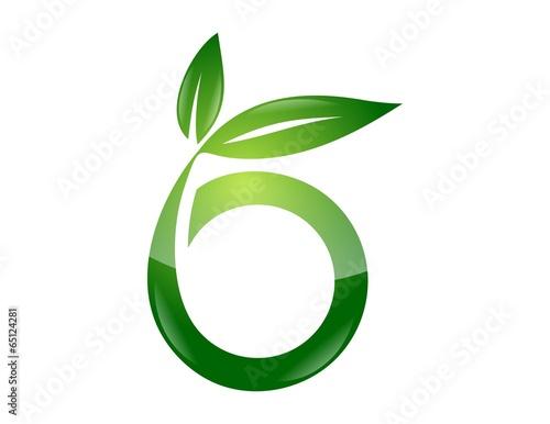 Logo Symbol Icon Global Nature Health Leaf Initials O B Stock Photo