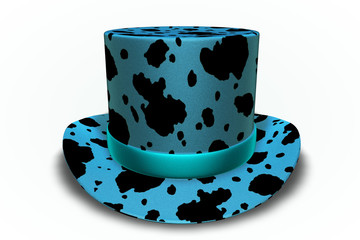 Blue Cow Top Hat