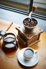 Foto op Textielframe Cafe Coffee