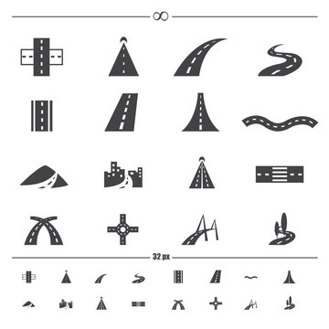 road icons.vector eps10