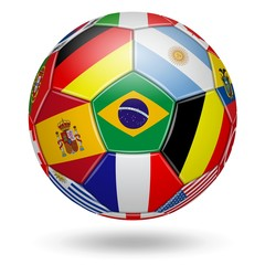 Soccer. World cup. Colors of the participating teams