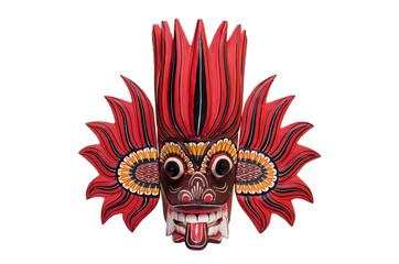 Red Sri Lankan fire mask