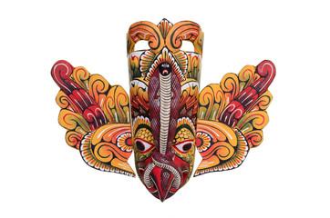 Yellow Sri Lankan bird mask