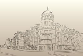 Donetsk Donbass Palace hotel drawing