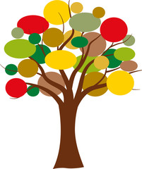 Vector colorful tree