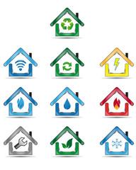 House utility icons set