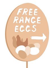 free range sign