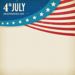 Vector independence day paper texture poster