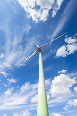 Windenergie im Wolken himmel