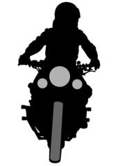 Fototapete - Motorcyclist