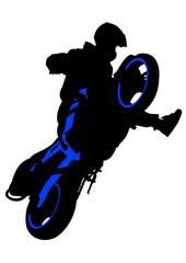 Fototapete - Sport biker
