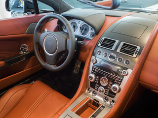 Sportscar dashboard interior
