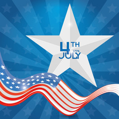 American Independence Day Background Editable