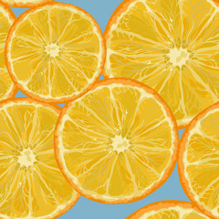 Orange slices.