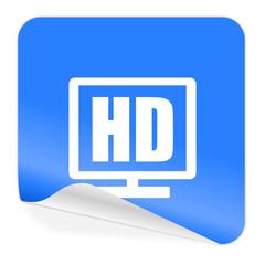 hd display blue sticker icon