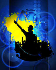Background for music event poster. Vector