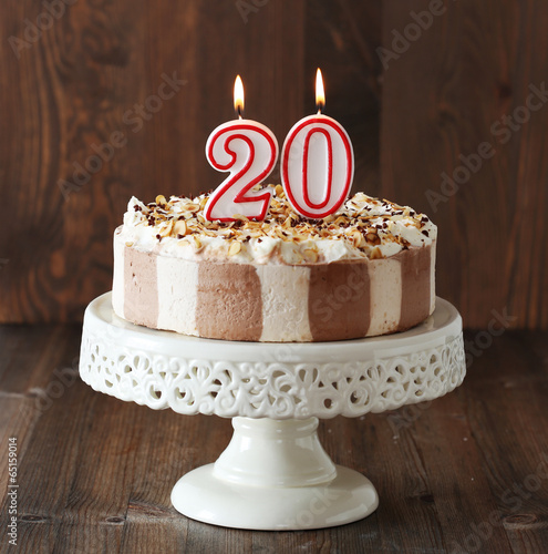 20th Birthday Cake Stock Photo And Royalty Free Images On Fotolia