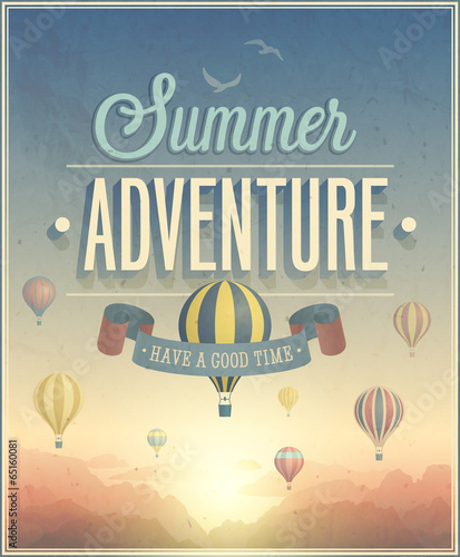 Wall mural Summer Adventure poster. Vector illustration.