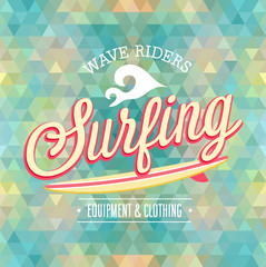 Wall Mural - Surfing poster. Vector illustration.