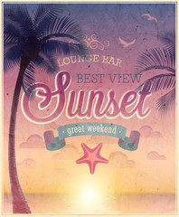 Wall Mural - Lounge Bar poster. Vector illustration.