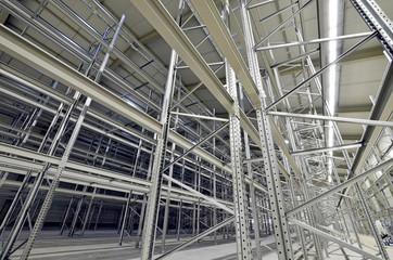 Hochregallager Stahlkonstrukt