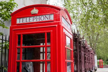 Telephone box in London