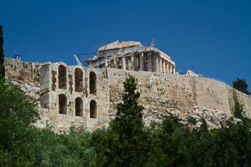 Acropolis, in Athens, Greece