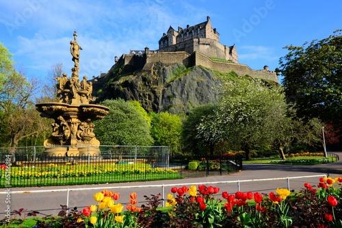 Edinburgh Castle view from Princes Street Gardens\