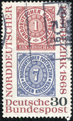 Reproduction of stamps of the North German Postal Confederation