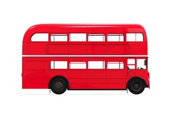 Printed roller blinds London red bus Double Decker Bus