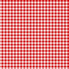 Pepita Karo Tischdeckenmuster in rot, nahtlos, rustikal und weihnachtlich