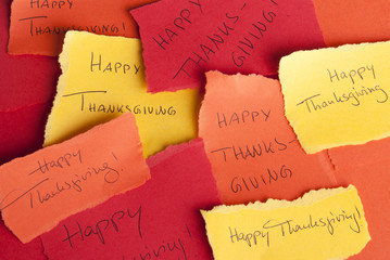 Memos with Happy Thanksgiving