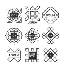Geometric vintage label minimal design