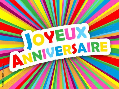 Carte Joyeux Anniversaire Bonne Fete Felicitations Message