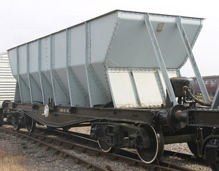 A Traditional Bulk Carrying Coal Railway Wagon.
