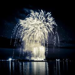 Firework on river