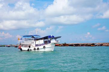 Travel boat in sea